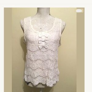 Sheer White Lace Tank Top
